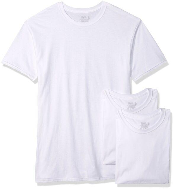 9 White Tall Man LT 42-44 Inch V-Neck T-Shirts Fruit Of The Loom 107-112 CM