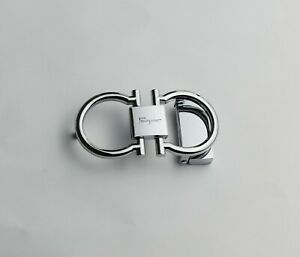 High Quality Silver /& Gray Men Feragamo Belt Buckle for 34-35mm Leather Strap