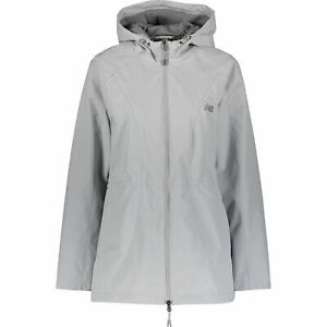 NEW-BALANCE-Women-039-s-Windproof-Hooded-Outdoor-Jacket-Grey-size-S