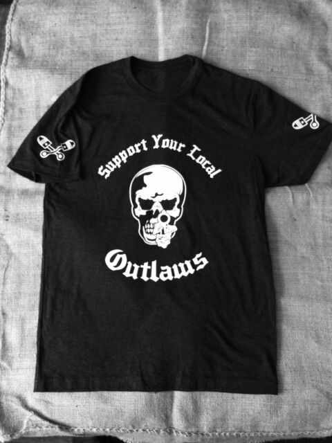SYLO PIN CROSSED PISTON PISTOL SUPPORT YOUR LOCAL OUTLAWS MC