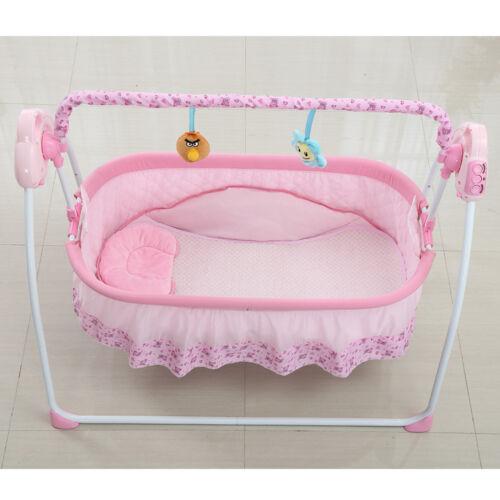 Fernbedienung ABS Rosa Automatische Elektrische Babyschaukel Babywippe Wiege