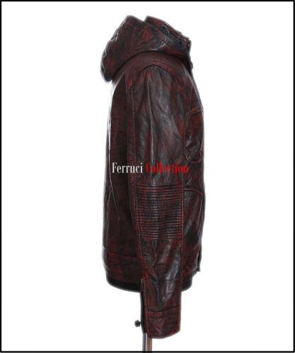 Veste en à cuir pour véritable Impossible Ghost capuchon de Protocol hommes Antique Mission Brown qqTUwrdt