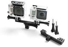 Splitter DIVISORE Mount F. GoPro Go Pro HD HERO 1,2,3,3+ accessori adattatore tripod
