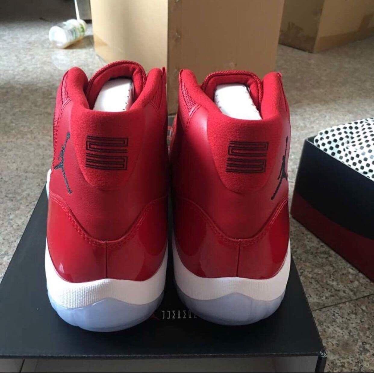 Nike Air Jordan XI 11 Retro Win Like 96 Gym Red 378037-623 Size 10 Men
