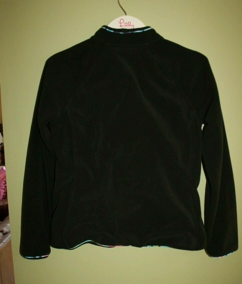 LILLY PULITZER FLEECE JACKET BLACK PRINTED PIPING… - image 2