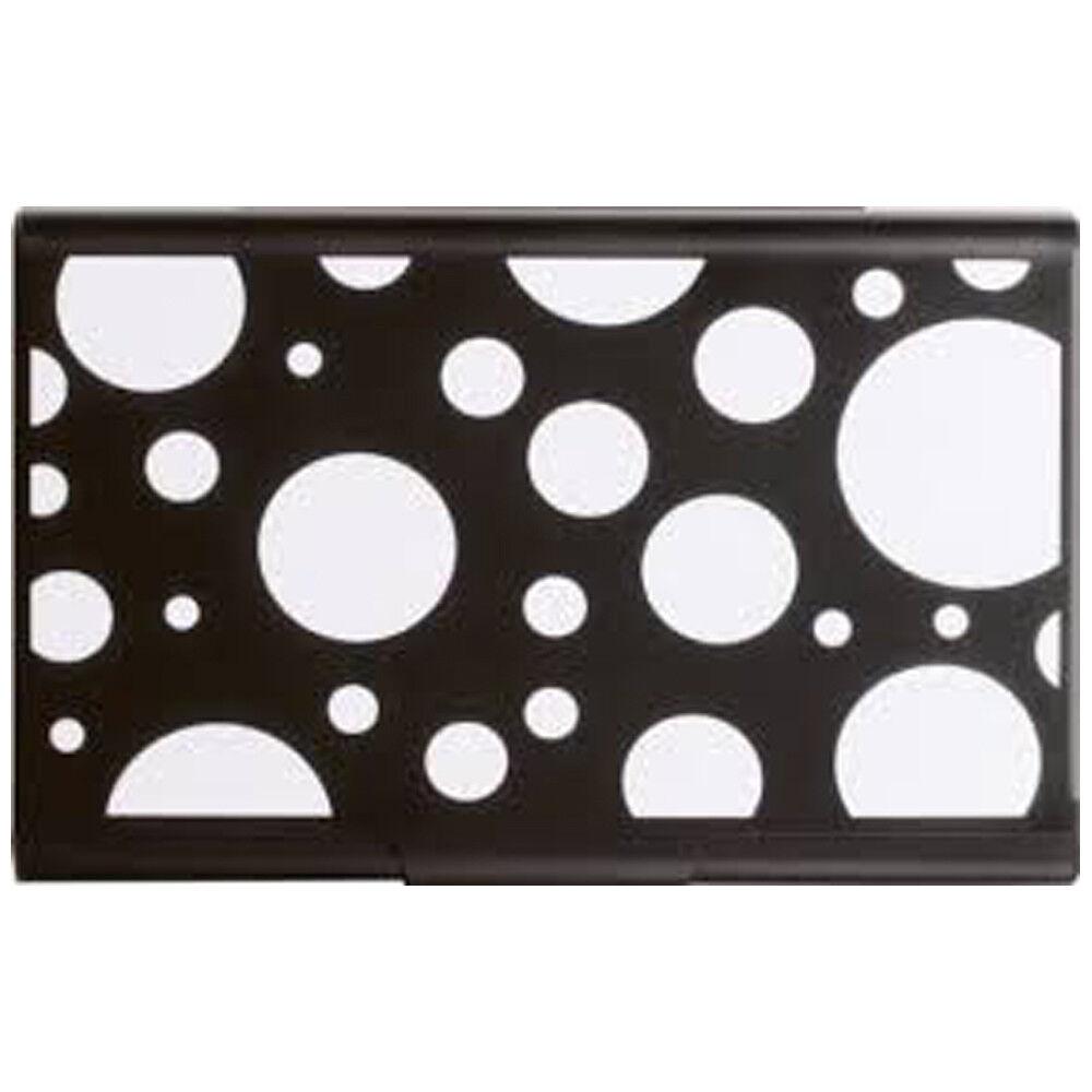 BLACK & WHITE POLKA DOTS Business Card Case RFID Gift Card Credit Money Holder