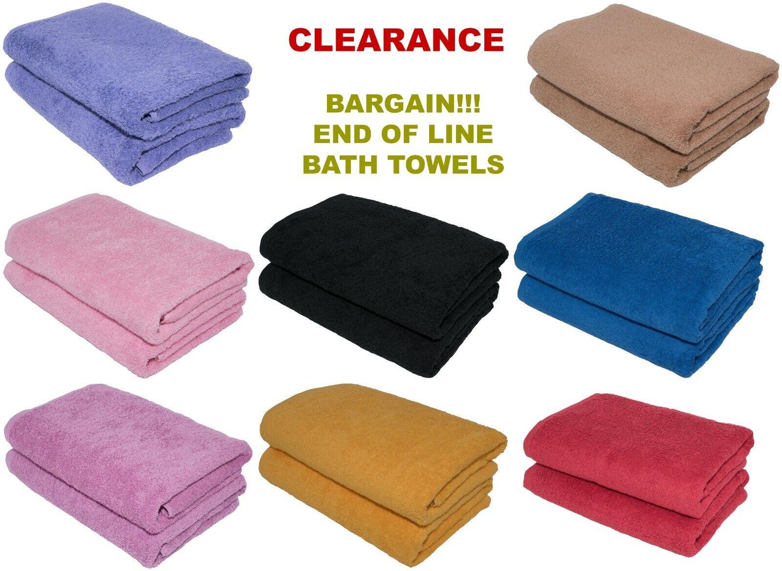 CLEARANCE Wholesale Job Lot Large Bath Towel 70x140 cm, 500 GSM Hotel Quality