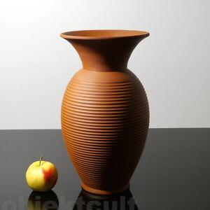 Ilkra-Vase-Bodenvase-35cm-rote-Keramikvase-Tonvase-German-Ceramic-50s