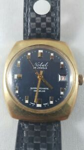 Nobel vintage watch , serviced works great , collectible rare watch