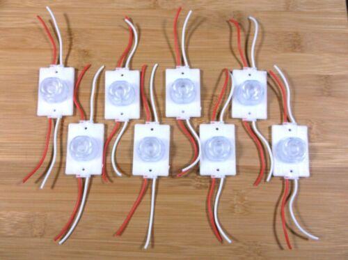 8 New BBT Super Bright 12 volt White LED Waterproof Lights