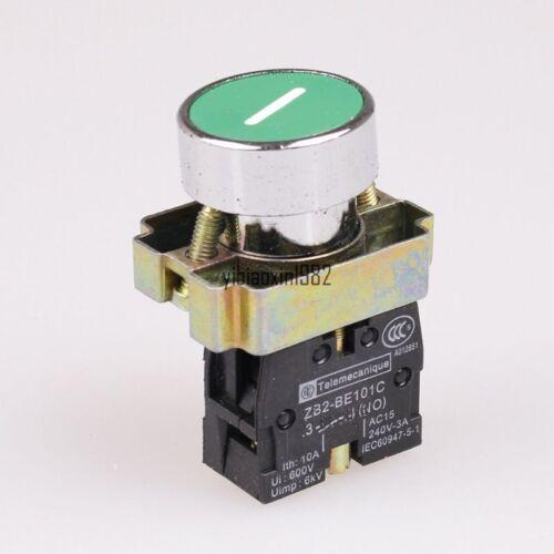 1Pcs 1NO XB2-BA3311 Symbol Momentary GREEN Flush Push-button