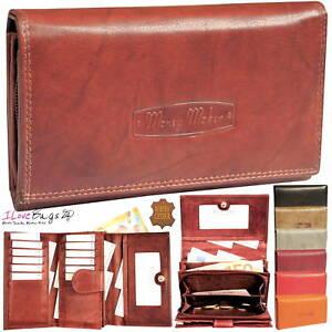 Neu-Geldboerse-Portemonnaie-Damen-Leder-Geldbeutel-fuer-12-Karten-das-Top-Modell