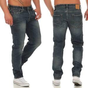 Jack-amp-Jones-Jeans-Mike-Jj-Icon-Pantalon-Hommes-CR001-Coupe-Confort-Bleu