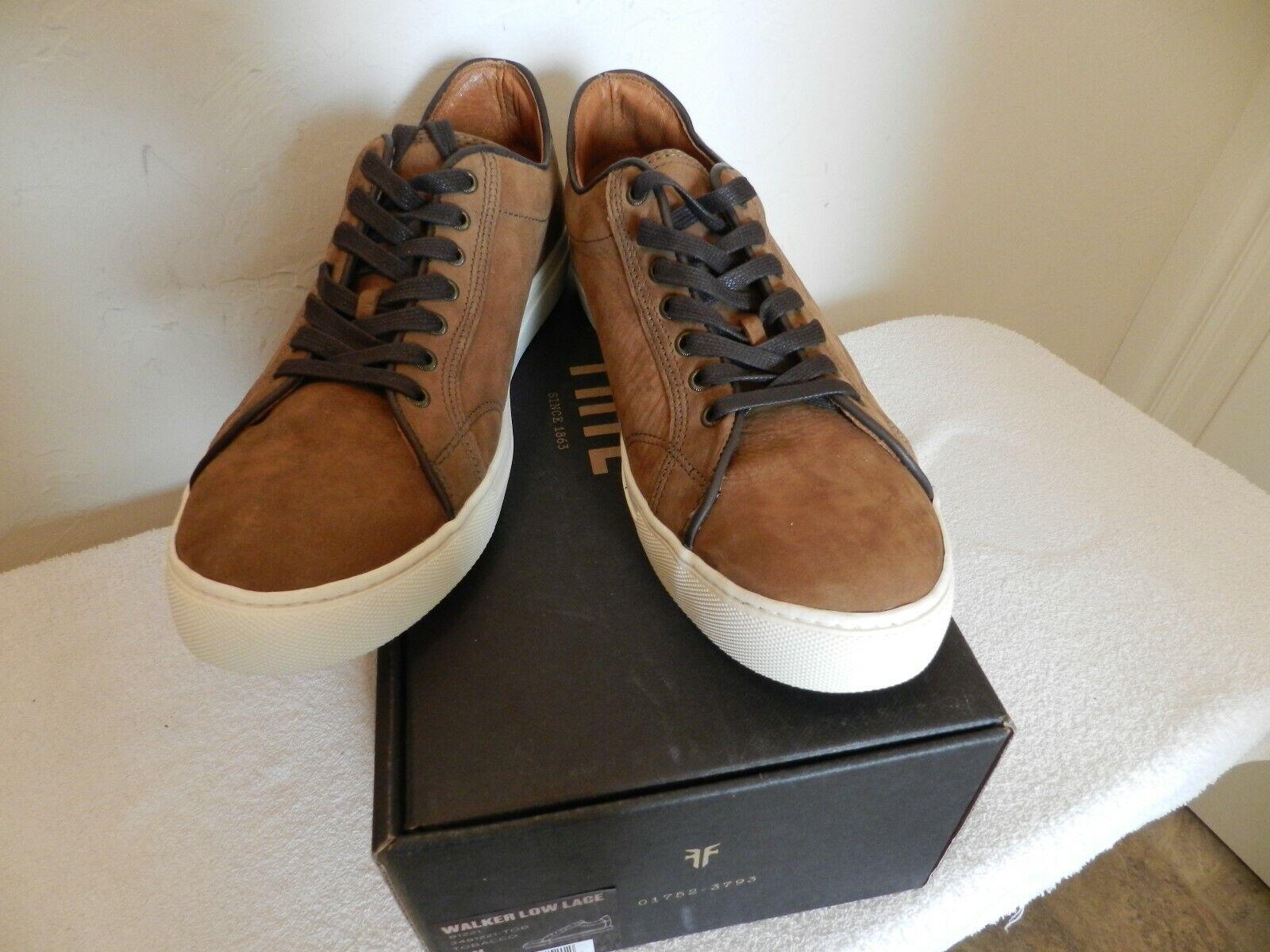 Frye Walker Low Lace 11M Nubuck Brown Leather sneakers  298 NIB USA