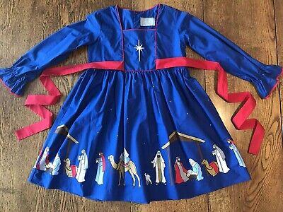 NEW 8-10 ELEANOR ROSE Silent Night Nativity Manger Jesus ADALYN Christmas Dress