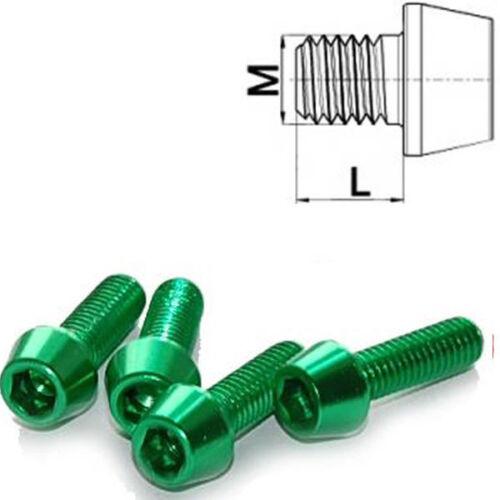 Aluminium Schraube M4 x 10 - 25 konisch DIN 912 Al7075 grün
