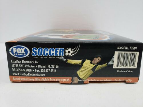 FOX SPORTS SOCCER Electronic Handheld 2 player Video Game NEW Excalibur 2006