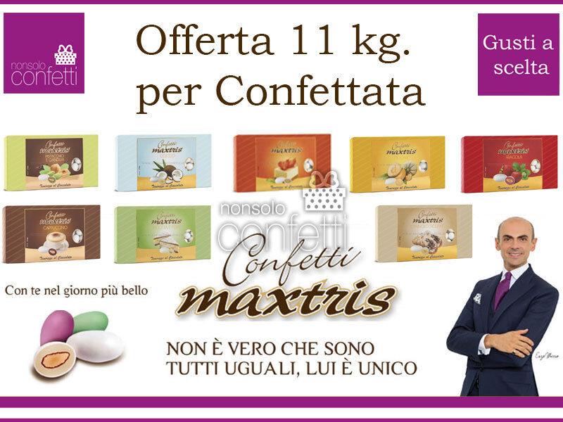 Confetti Maxtris Kit da 11 kg. per Confettata o Bomboniere GUSTI A SCELTA