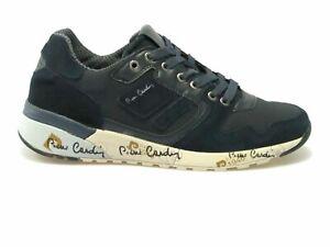 Scarpe-da-uomo-Pierre-Cardin-Sneakers-sportiva-PC721-Blu-navy-Strinagata-sportiv