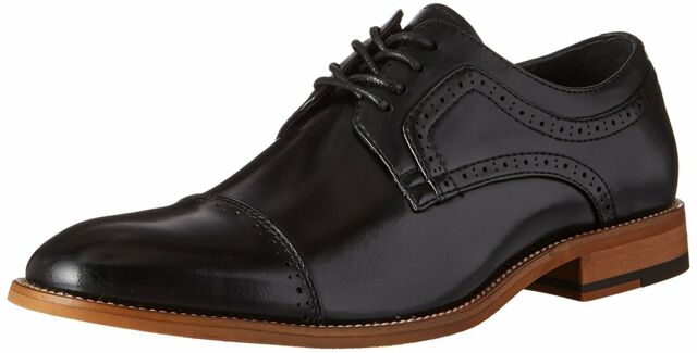 Stacy Adams Mens Dickinson Leather Lace Up Dress Oxfords, Black, Size 14.0 epyO