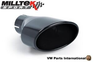 Audi RS3 8v Sportback Milltek Sport Right Cerakote Black Oval Exhaust Tip Only