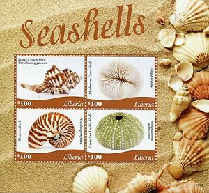 Strict Le Liberia 2015 Neuf Sans Charnière Coquillages 4v M / S Sea Shell Conques Oursins Nautilus-afficher Le Titre D'origine