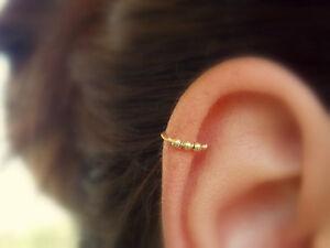 Image Is Loading Beaded Cartilage Earring Helix Hoop Piercing