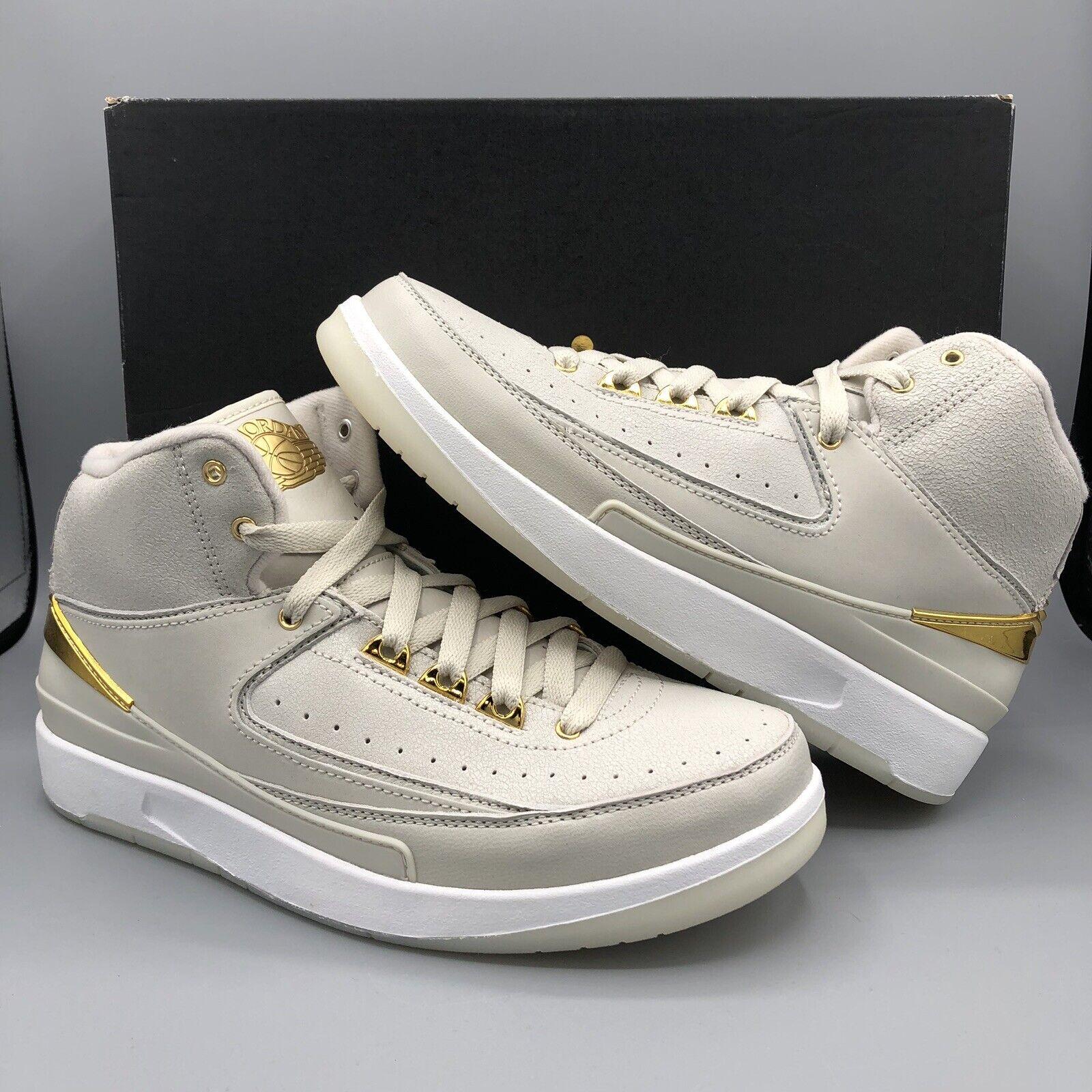 Nike Air Jordan Retro II BG Quai 54 SZ 5.5y 866034 001 gold Off White DB III I V