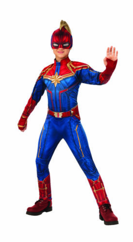 Rubies Captain Marvel Deluxe Superhero Suit Childrens Halloween Costume 700597