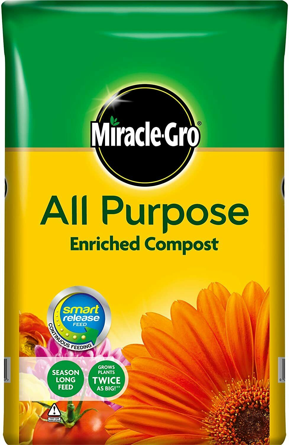 Miracle-Gro All Purpose Enriched Compost Soil Potted Garden Flower 50 liters!,UK