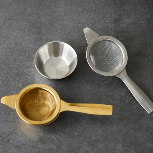 Handle Fine Kongfu Coffee Filters Tea Strainer Mesh Colander  Stainless Steel