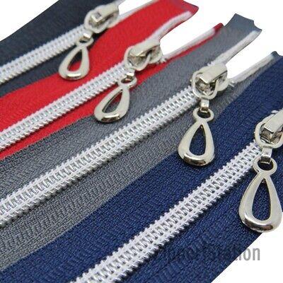 High Quality Black Nylon Spiral Coil Teeth Open Ended Zipper #3 ✄ 30cm 50cm ✄
