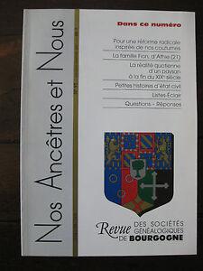 Bourgogne-Revue-Genealogie-Nos-Ancetres-et-nous-N-90-2001-Cote-d-039-Or-Nievre