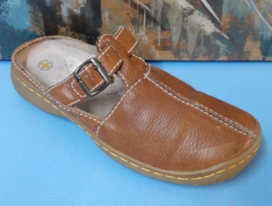 Dr Doc Martens Zapatos UK8 USL10 USM9 USM9 USM9 mula diapositivas Unisex de cuero marrón 3895  hermoso