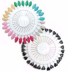 Hoja de perla Hijab Bufanda pins pin de seguridad rueda Craft Sastre Costura Sombrero libre de enganches  </span>
