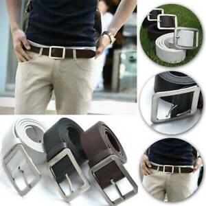 Men-039-s-Genuine-Leather-Trouser-Belt-Casual-Pin-Buckle-Waist-Strap-Belts-Waistband