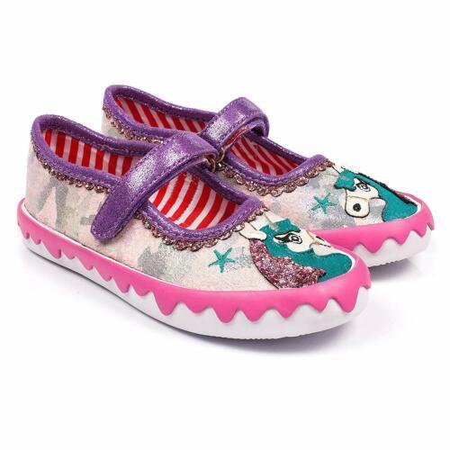 Irregular Choice /'Mini Reins/' E Kids Girls Pink Unicorn ballerina Shoes