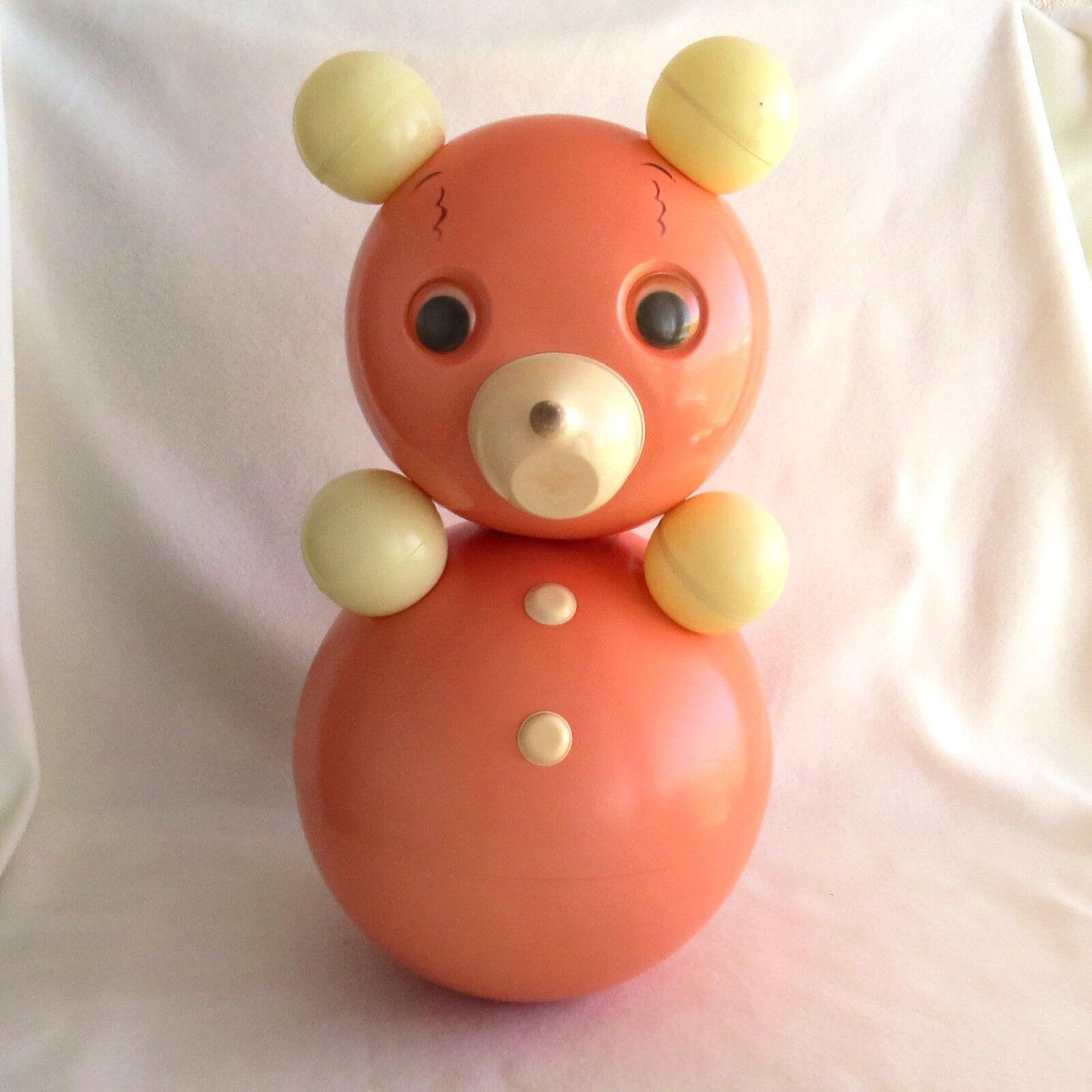 15 3 4   Bear Soviet viintage だるま 40 cm celluloid rosso Nevalyashka Roly Poly Doll
