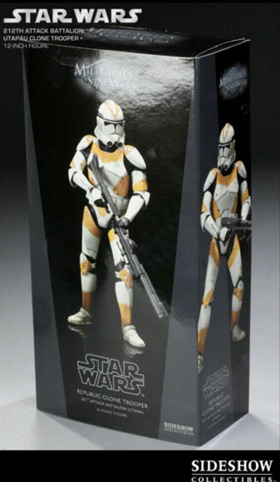 Sideshow Collectibles Star Wars  Republic Clone Trooper 212th batallón de ataque
