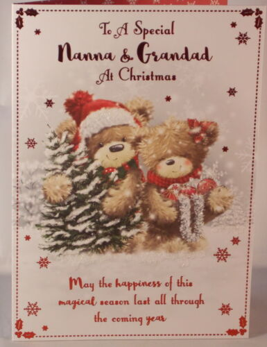 To a Special Nanna /& Grandad at Christmas card 19cm x 13.25cm