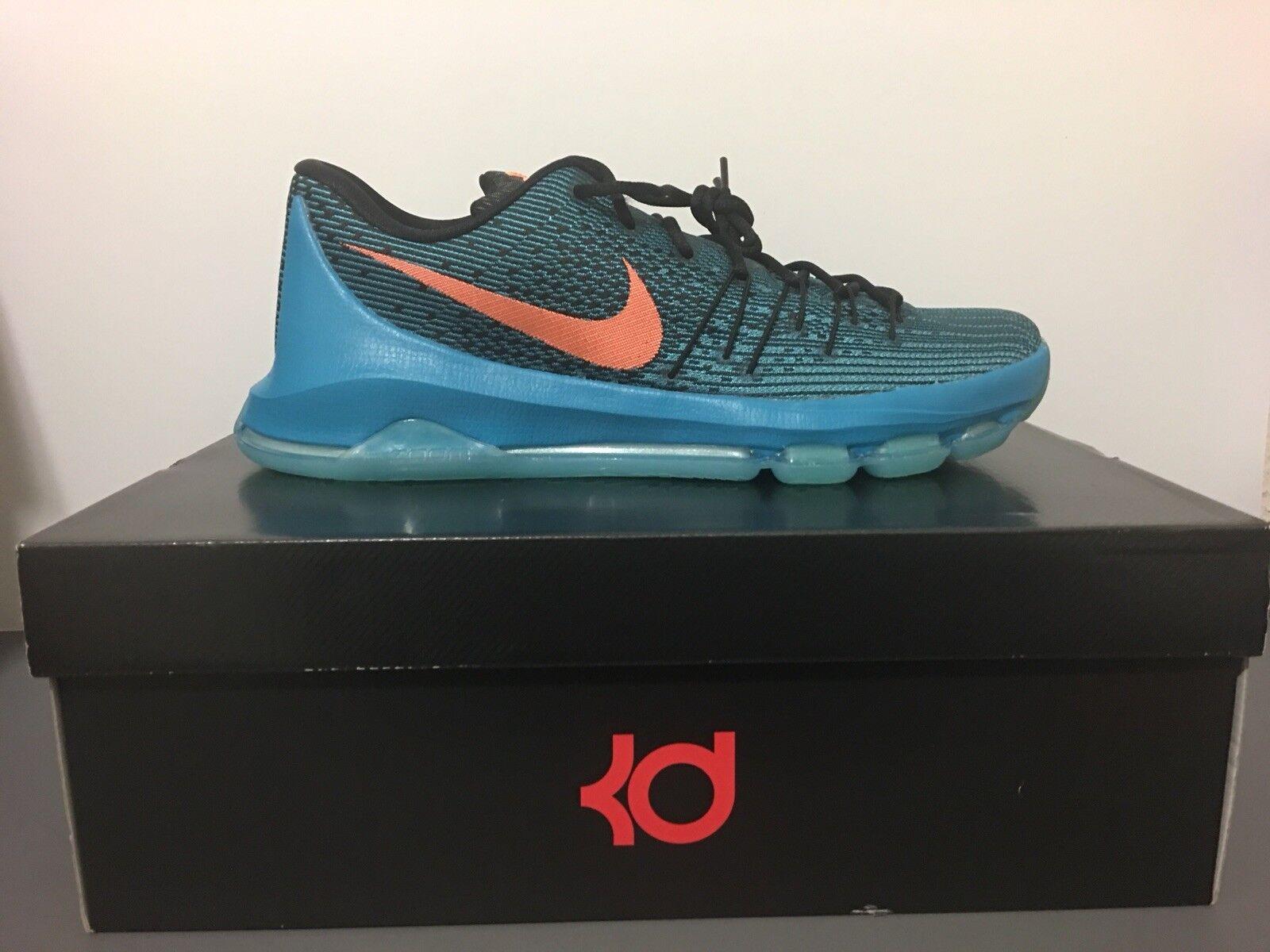 New Nike KD 8 VIII Blue Orange Basketball OKC Thunder Durant 749375-480 Sz 13!!