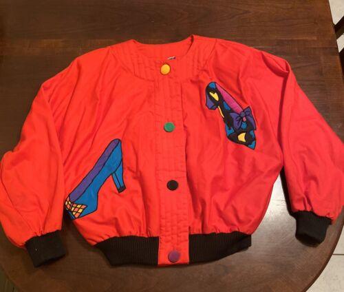 VTG NWT Vintage 1990s Silkscapes Red Oversize Jack