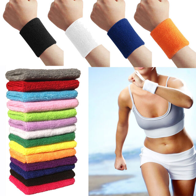 Damen Herren Armband Schweißband Waistband Sports Gym Yoga Tennis Elestisch NEU