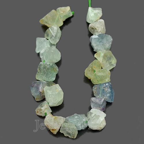 "Natural RAW Rough Nugget Gemstone Baroque Freeform Beads 14-16 mm 7.5/"" Côté Perceuse"