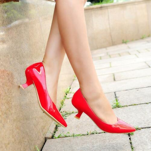 Candy Multi Color Womens Chic Dress Pumps Kitten Heels OL Pointed Toe Shoes Plus