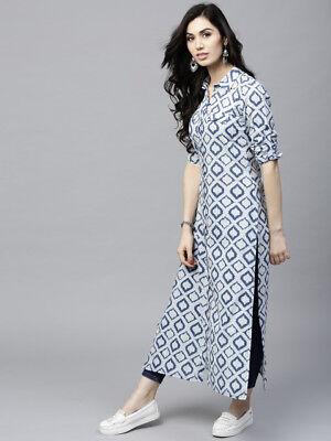 Indian Dress Designer Printed Cotton Ladies Kurti Kurta Tunics Tops Dress For Woman  2263