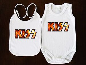 KISS I wanna Rock and Roll all nite  Baby Ringer Body