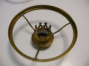 alter 155er Petroleumlampen Schirmträger Messing mit  10 Brennerkrone