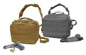 Nylon-Pistol-Concealment-Shoulder-Bag-Gun-Holster-Shooter-Square-Briefcase-CCW