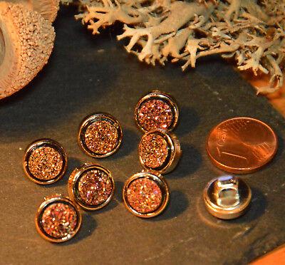 EyeCatcher brillo botón m steg botones 1cm 10mm 5 unidades nuevo rosa